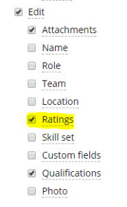 October 2017 Edit Skill Ratings