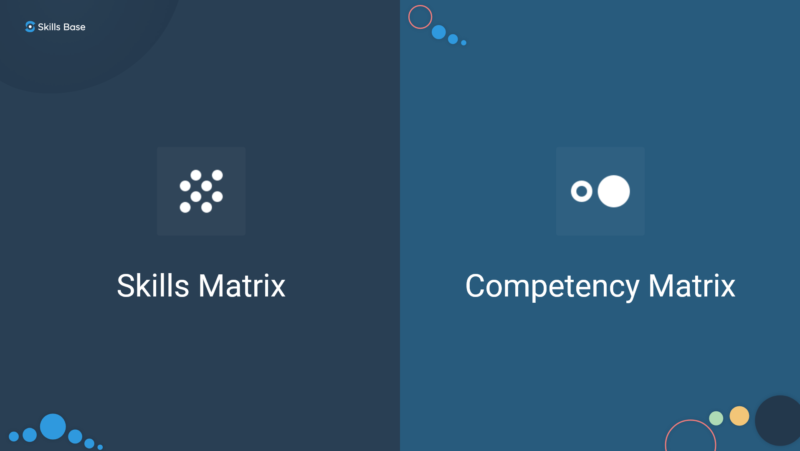 What is the difference between a skills matrix and a competency matrix